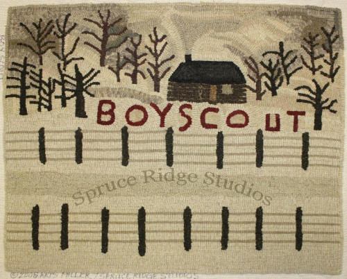 Boy Scout rug hooking pattern