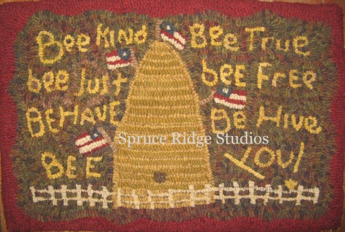 The Bee Rug sample J. Butler