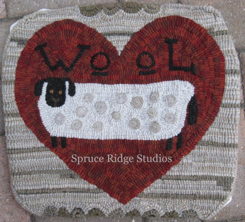 Wool Ewe Be Mine sample by Kris Miller