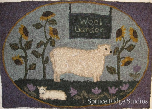 Wool Garden sample by LaDonna