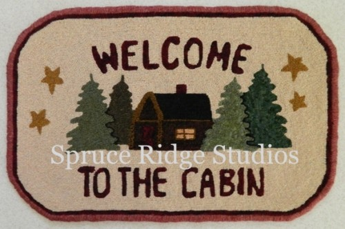 welcome cabin hooked sample