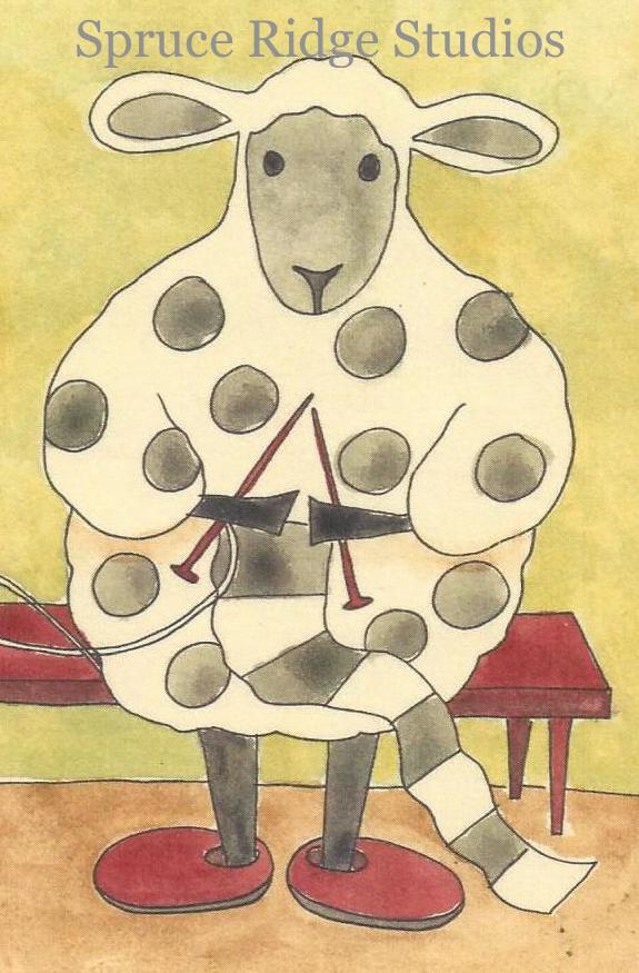 Dot The Knitting Sheep-PJ Rankin Hults