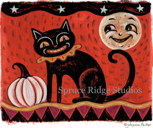 JParker Happy Halloween Moon & Cat Inspiration copy
