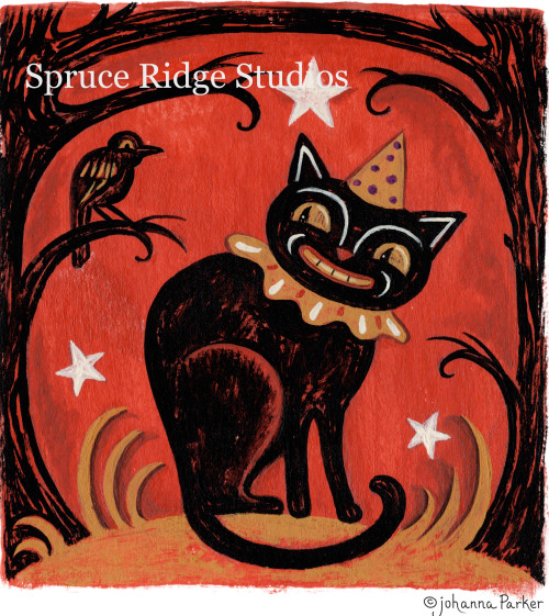 JParker Haunted Forest Cat & Crow inspiration