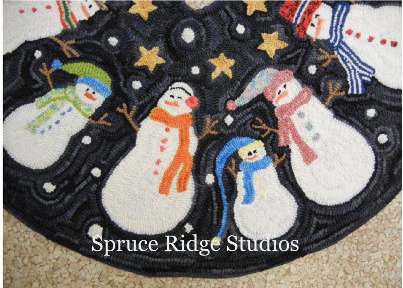 Up Close view of Snowman Tree Skirt