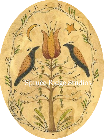 Harvest Folk Birds Oval inspiration