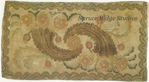 Sample of antique rug