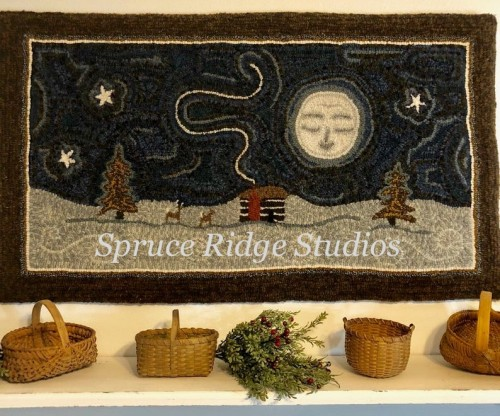 Good Night Moon Red House Wool Studio inspiration