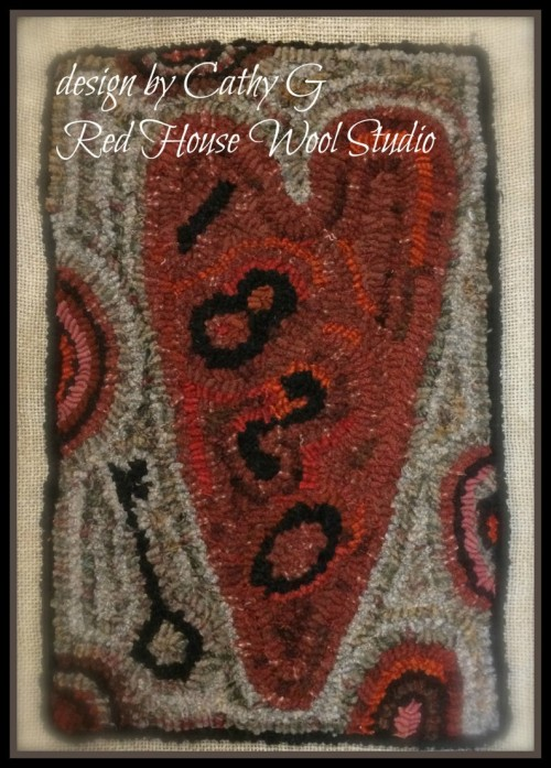 Key To My Olde Heart 1-Red House Wool Studio
