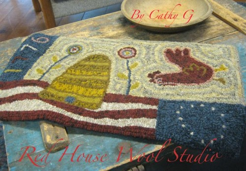 Long May She Wave-Red House Wool Studio