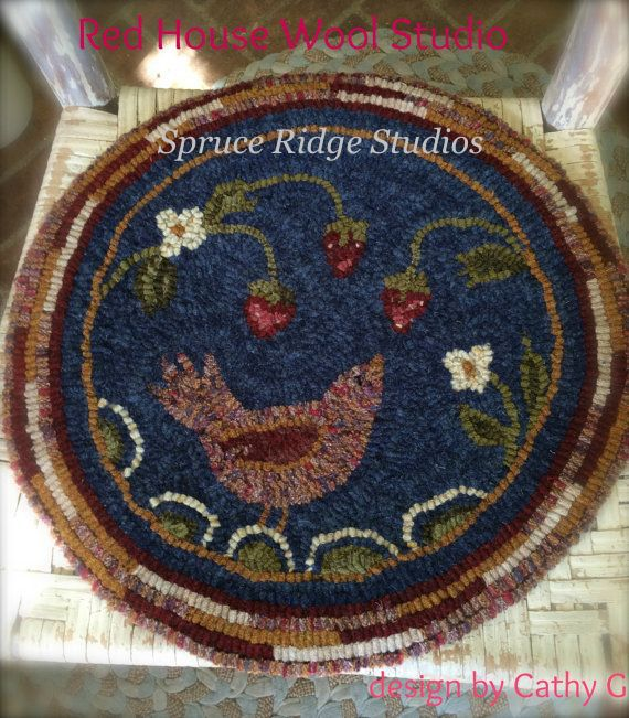 Strawberry to Go-Red House Wool Studio