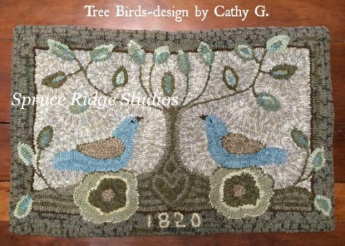 Tree Birds-Red House Wool Studio