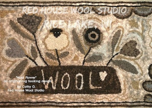 Wool Flower-Red House Wool Studio